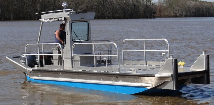 24′ Work Boats | Scully's Aluminum Boats, Inc